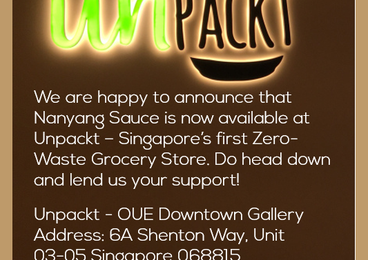 Nanyang Sauce is now available at Unpackt Grocer