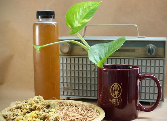 Homemade Ginseng Chrysanthemum Herbal Drink