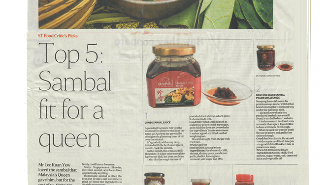 Our Sambal Chilli is Top 5!