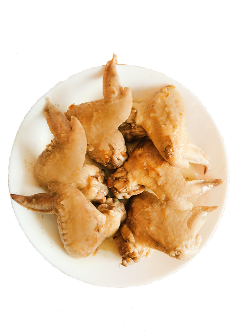 6 Salted Baked Chicken Wings