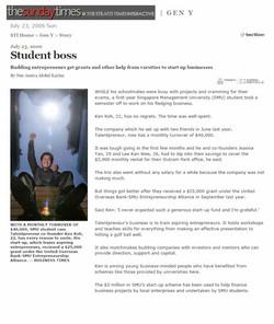 Talentpreneur - THE SUNDAY TIMES