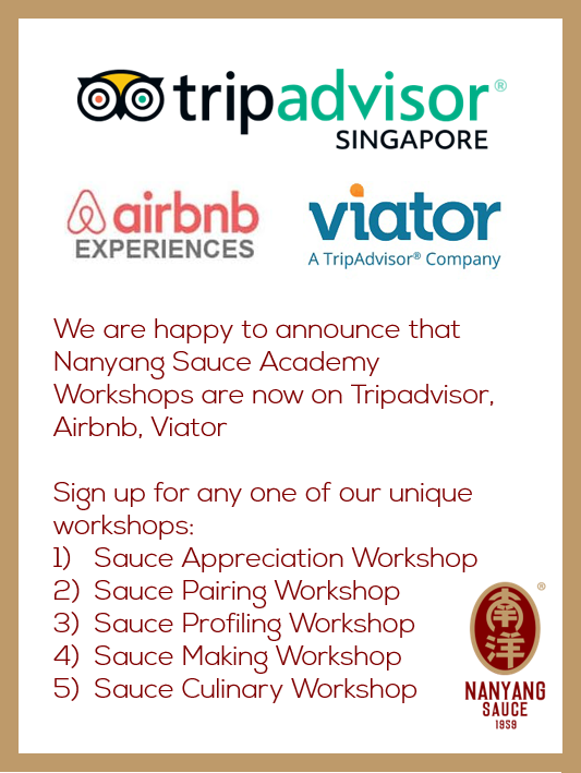 Nanyang Sauce Academy Workshops are launched on travel experiences websites!