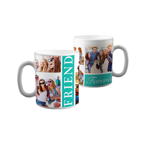 Friends Photo Collage Personalized Coffee Mug 11oz 5 Picture