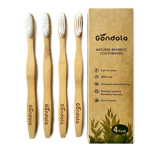 Adult Natural Bamboo Toothbrush