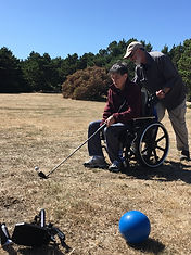 The Aphasia Network: Aphasia Camp Northwest Adventure Weekend, adapted golfing