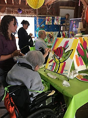 The Aphasia Network: Aphasia Camp Northwest Adventure Weekend, Paint Nite