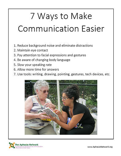 The Aphasia Network - Aphasia Communication Tips