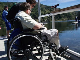 The Aphasia Network: Aphasia Camp Northwest Adventure Weekend, adapted fishing