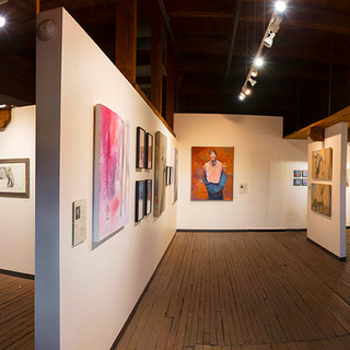 Panorama of main gallery space, 800 sq ft