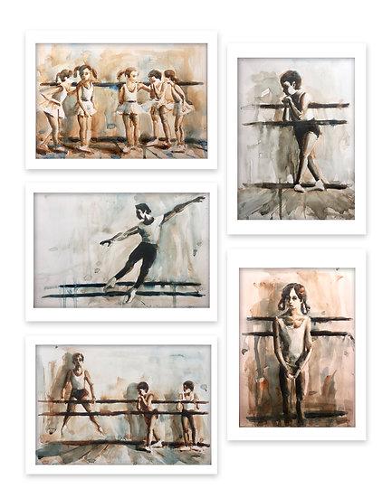 Russian Ballet School c 1970 series (5 pieces)