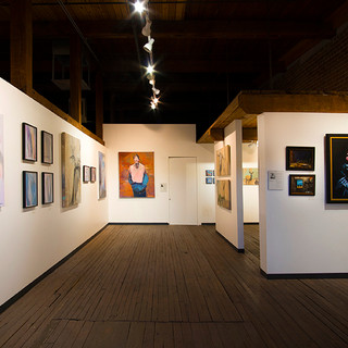 Main gallery, view from entry