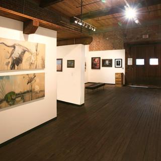 Main gallery, looking towards entry