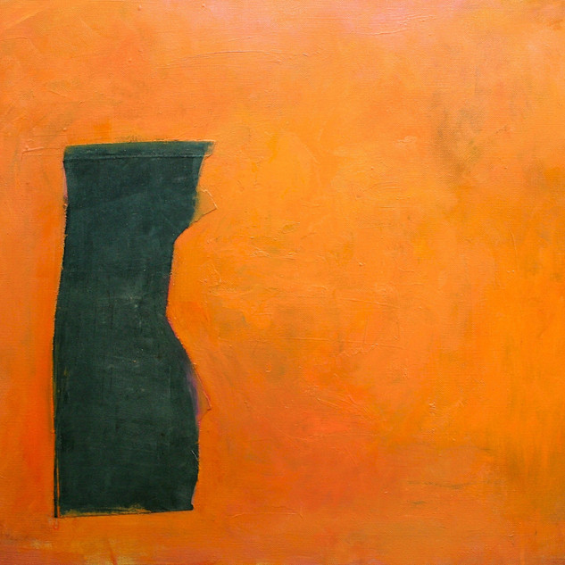 Composition in Orange and Grey