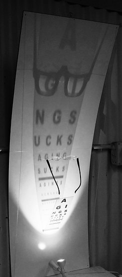 Aging Sucks (but doesn't have to) Eye Chart