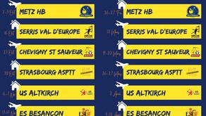 Calendriers N1F et N1M Saison 2021-2022