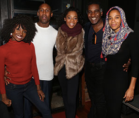 Salters Scene: Once On This Island Cast At Cove Lounge In Harlem
