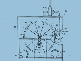 Patent for Drum Filter Media Cleaning