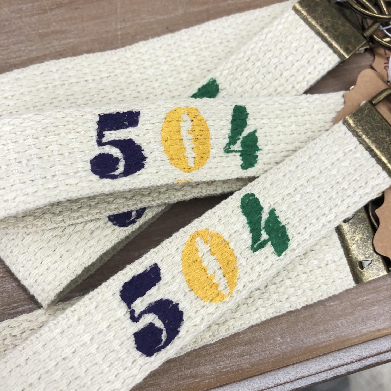 504 Area Code Keychain