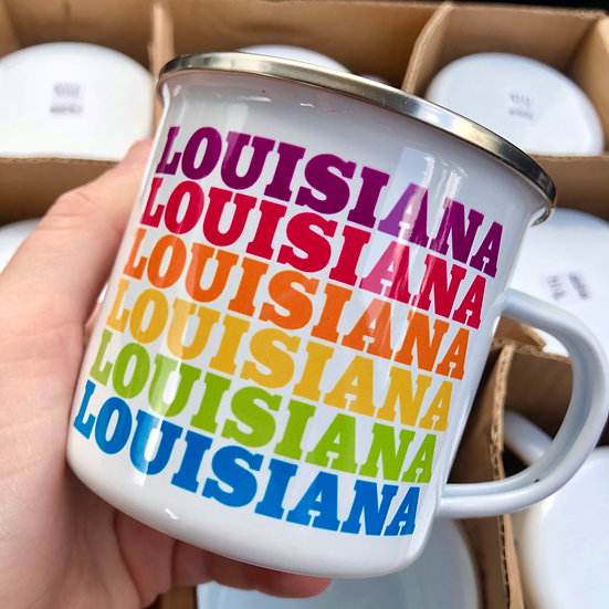 Rainbow Louisiana Mug
