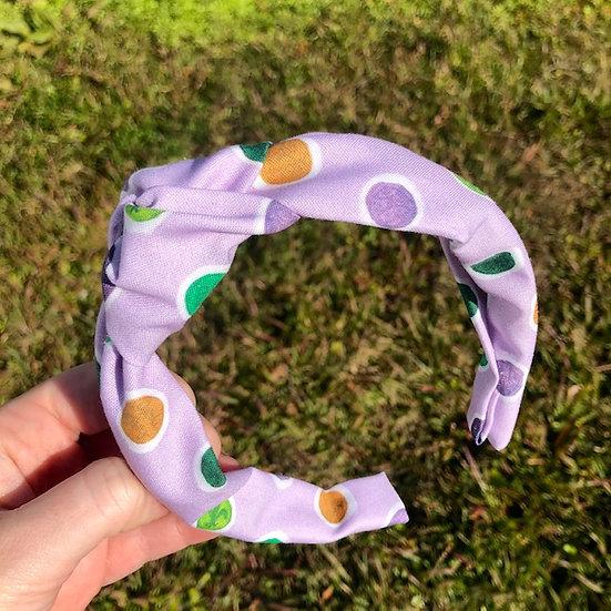 Mardi Gras Doubloon Knot Headband