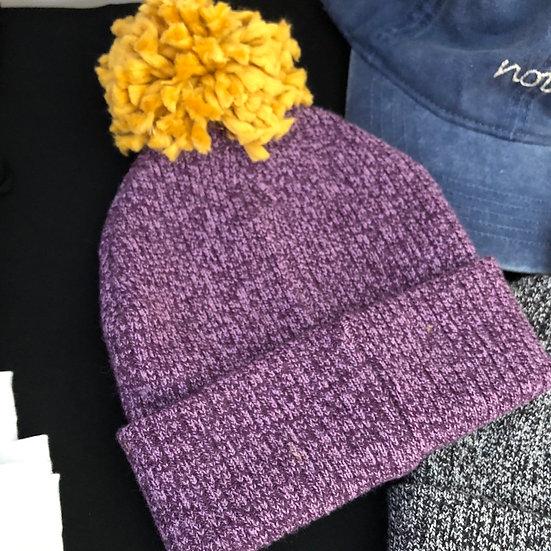 LSU Knit Pompom Beanie