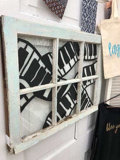Piano Window Painting