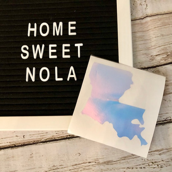 Holographic Louisiana Decal