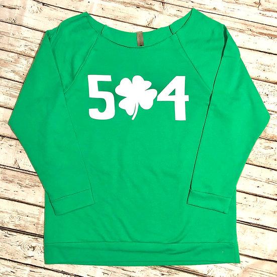504 Clover 3/4 Sleeve Terry