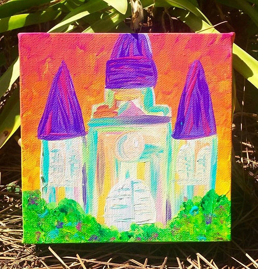 Neon Cathedral Painting
