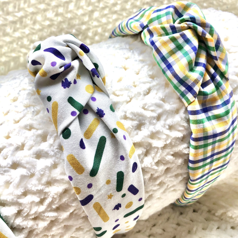 Thumbnail: Mardi Gras knot Headband