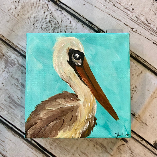 4x4 Pelican Canvas Painting
