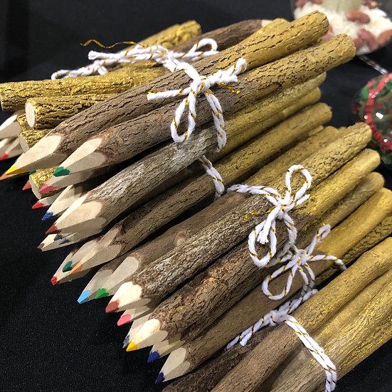 Natural Wood Colored Pencils- Set of 5
