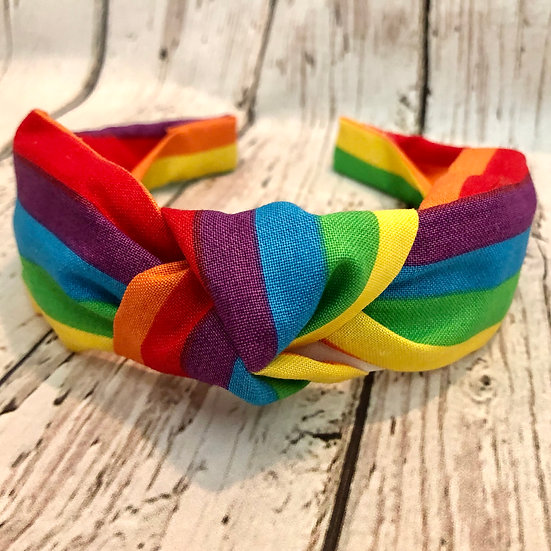 Rainbow Knot Headband
