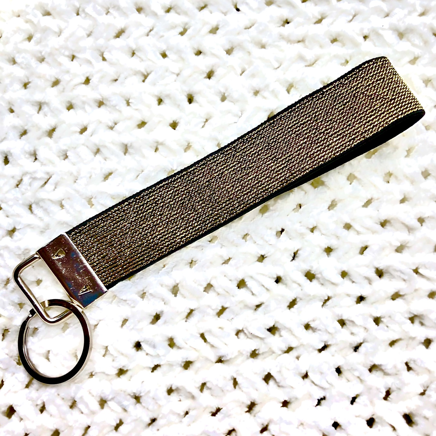 Gold & Black Keychain Fob
