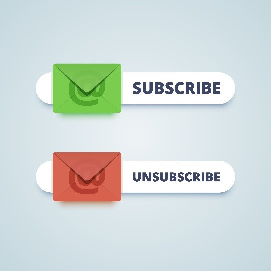 Two emails with one being unsubscribed and the other being subscribed to.