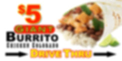 $5 Giant Colorado Burrito 3x6 Banner  2.
