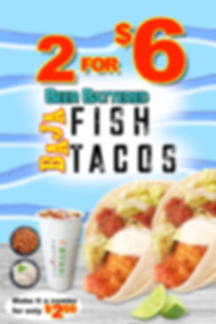 2for6 Fish Tacos Baja Style 24x36 Sintra