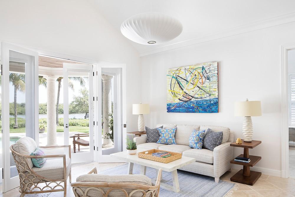 Vero Beach modern coastal living room remodel