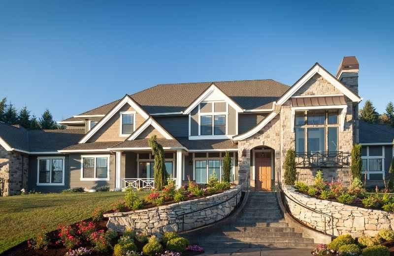 brick and stone home design