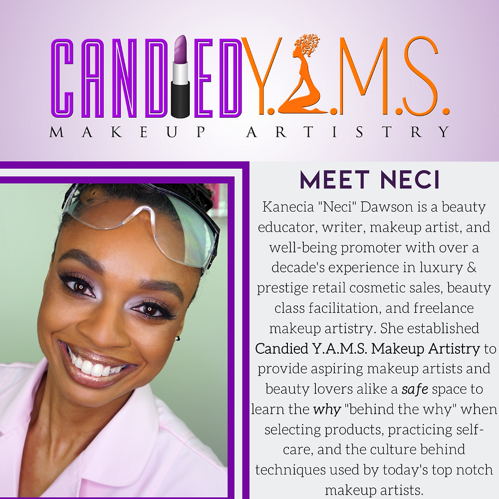 Neci Dawson, beauty coach and makeup artist