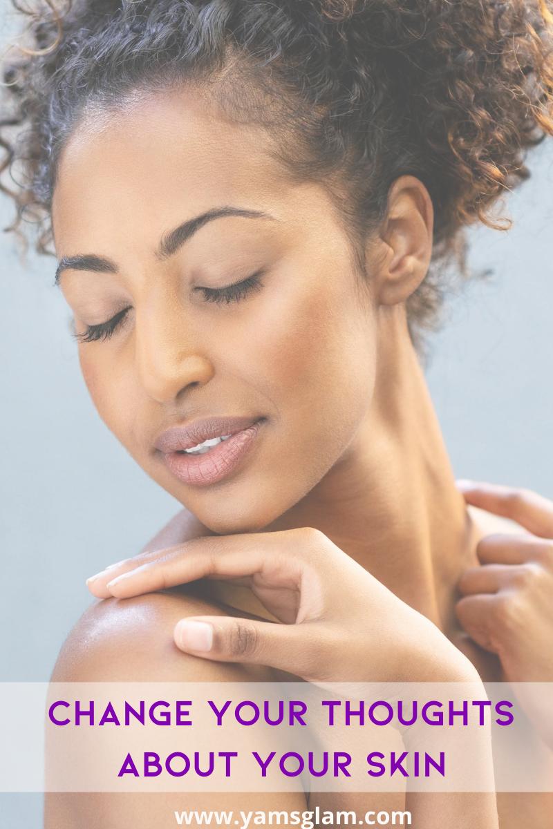 woman loving her skin