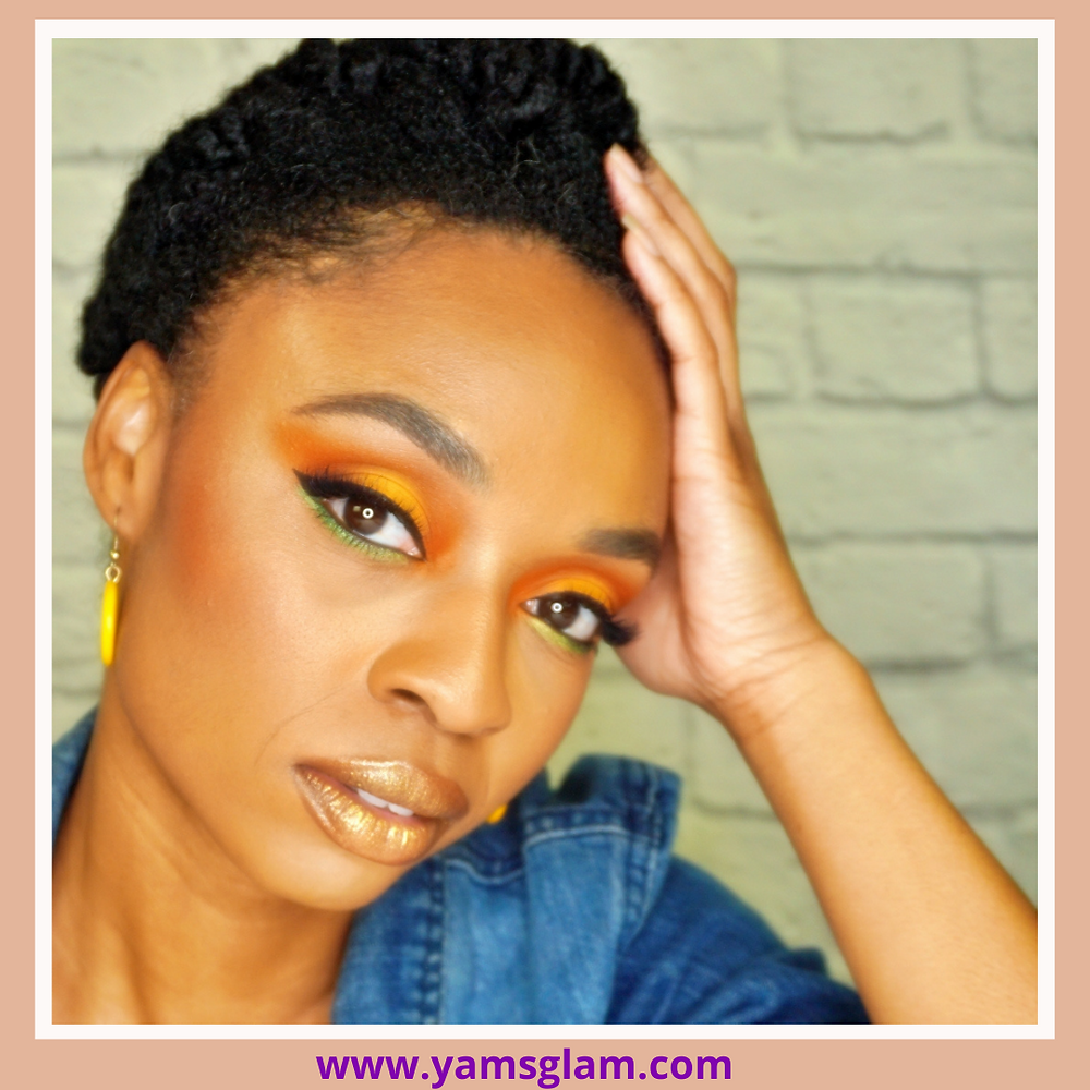 Neci D, Makeup Artist Yellow Orange Eyes