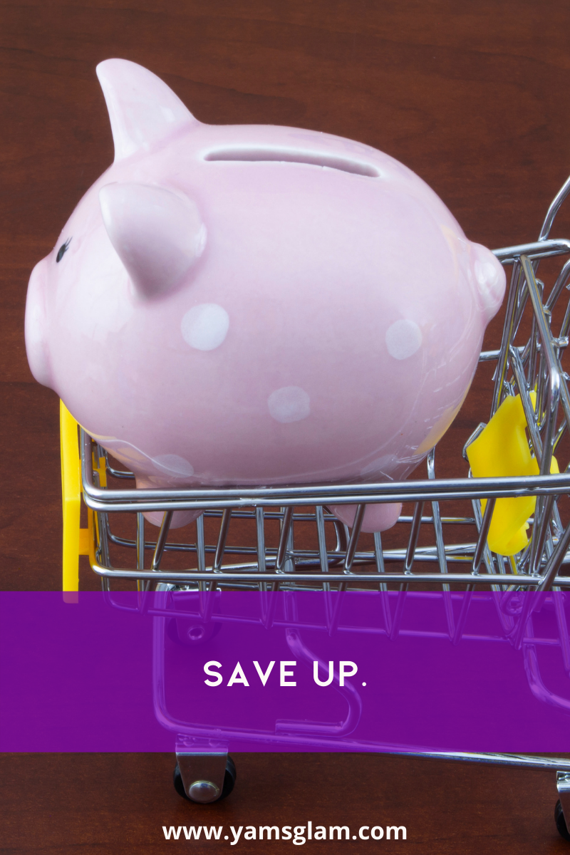 piggy bank in shopping cart