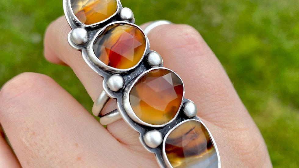 Four Stone Montana Agate Ring