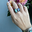 Thumbnail: Turquoise and Rainbow Moonstone Open Ring