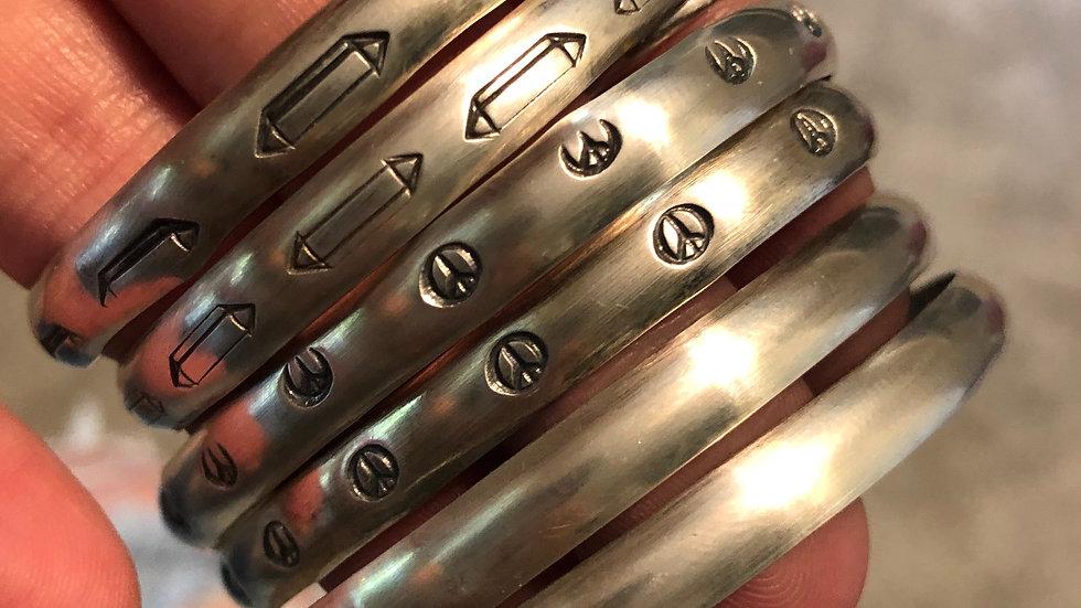 Sterling stacker cuffs
