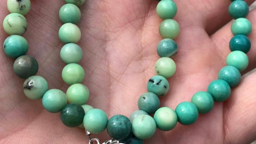 Moss Opal Beaded Choker Necklace