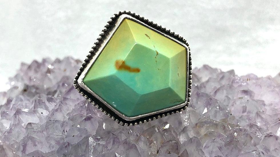 Polychrome Kingman Geo Ring