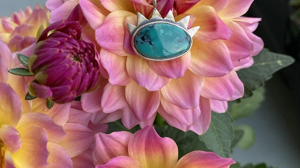 Hubei Turquoise Evil Eye Necklace
