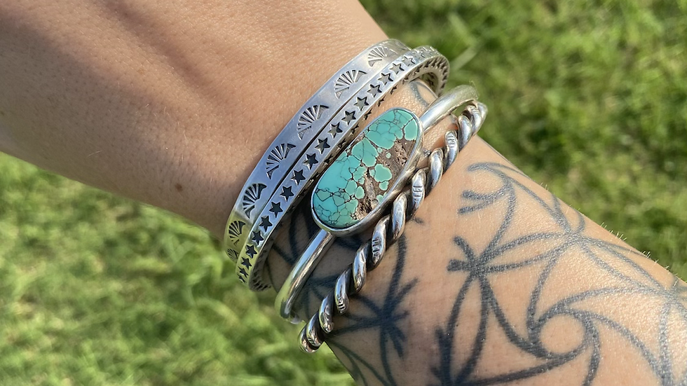 Bamboo Mountain Turquoise Stacker Cuff